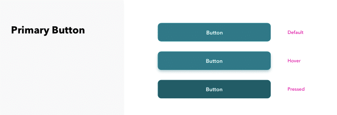 Screenshot from starter kit showing various button states required for web.